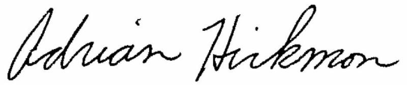 Adrian Hickmon Signature