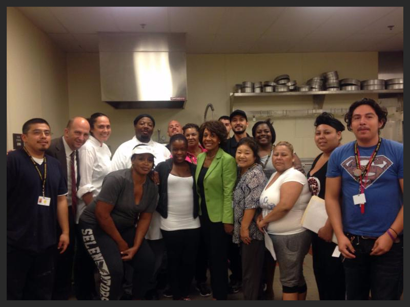 At Maxine Waters Employment Preparation Center with Maxine Waters!