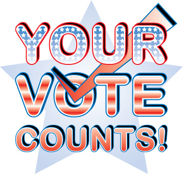 your vote counts heading