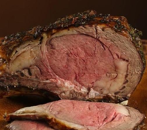 Garlic Crusted Roast Beef