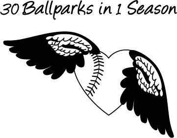 30 Ballparks in 1 Season Logo