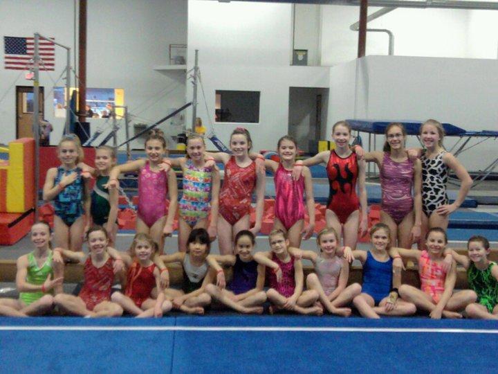 Gymnastics Team w/ Wristbands