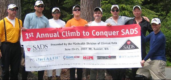Climb to Conquer SADS banner