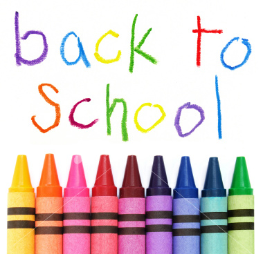 back to school w/ crayons