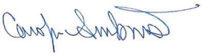 Carolyn Armbrust Signature