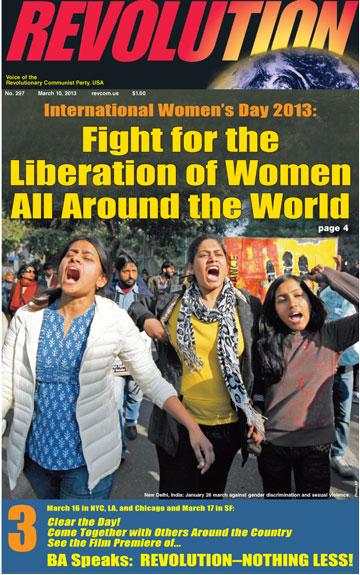 women liberation IWD 2013