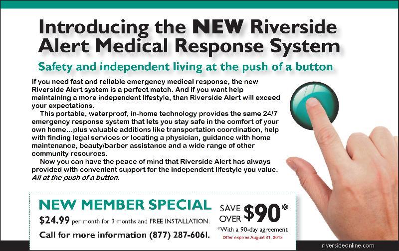 Riverside Alert coupon