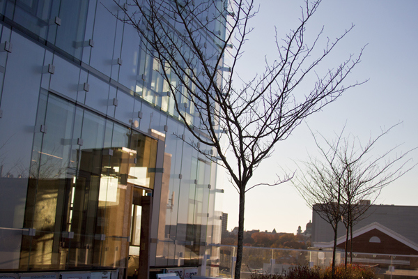 law school with trees