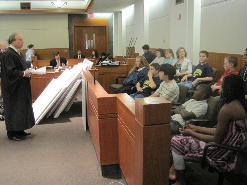 Judge Silkworth with Students on Field Trip