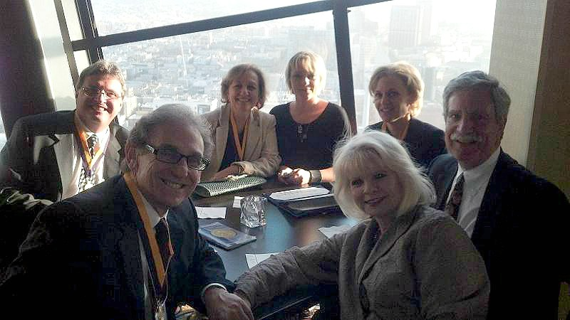 Arizona's Newest Distinguished Fellows celebrate and enjoy the breathtaking views of SFO (