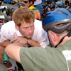 Prince Harry w FT member at Hope & Possibility