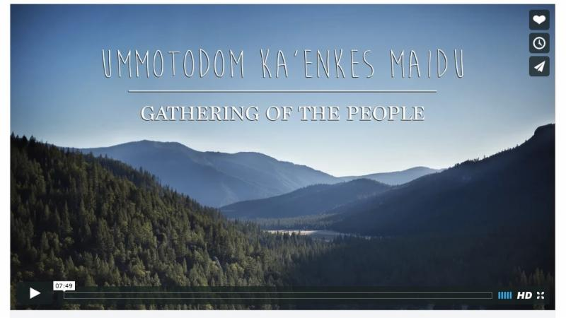 Maidu Gathering of the People video