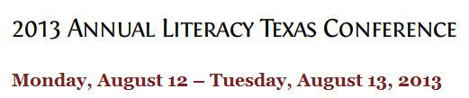 Literacy TX Annual Conf. 2013