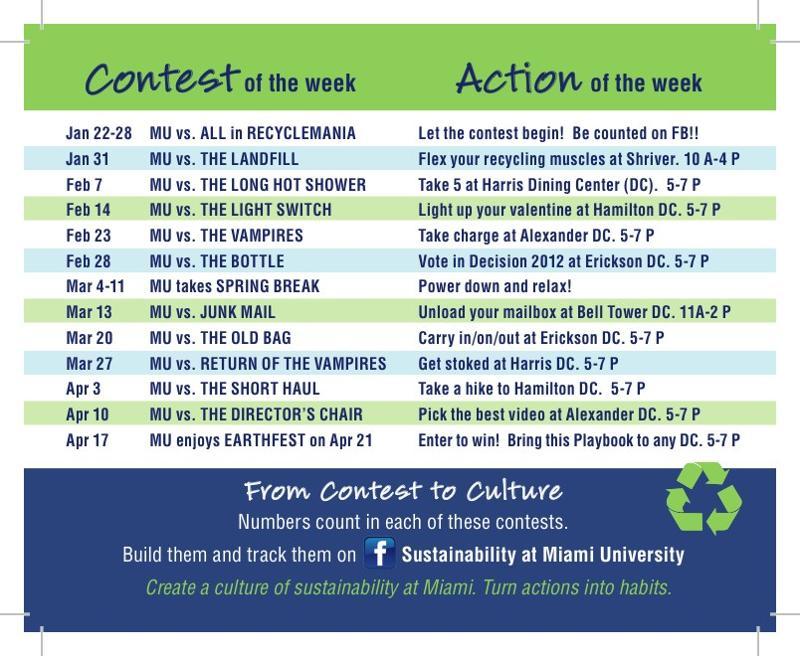 Go Green Schedule