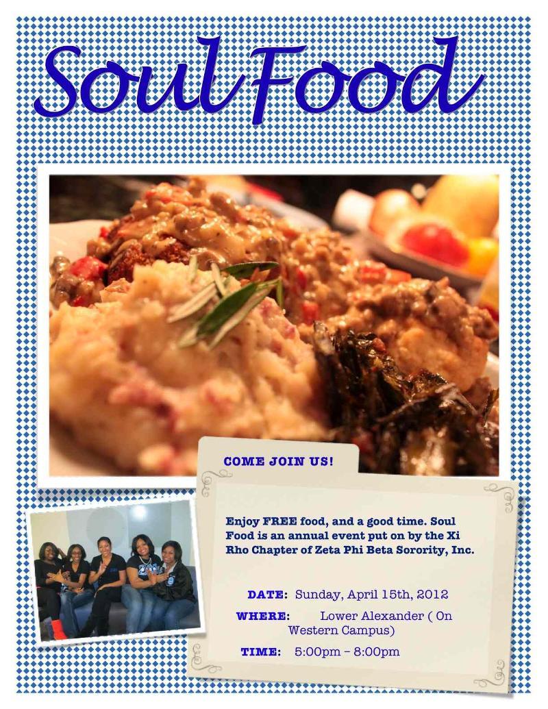 Soul Food Flyer