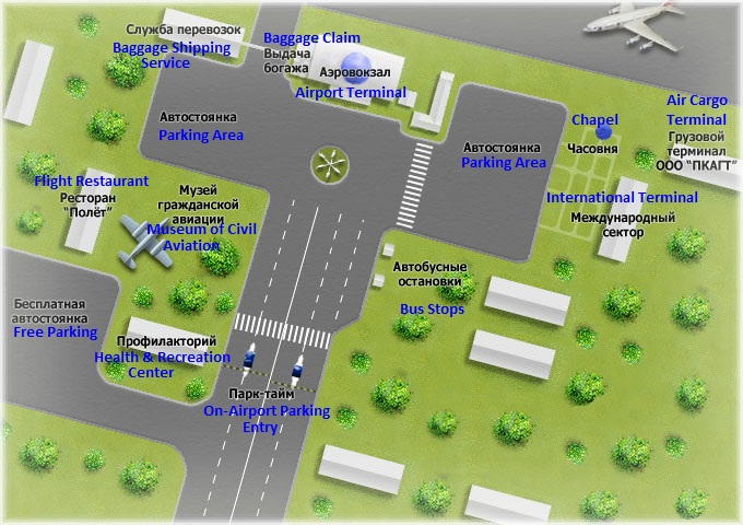 PKC Airport Map