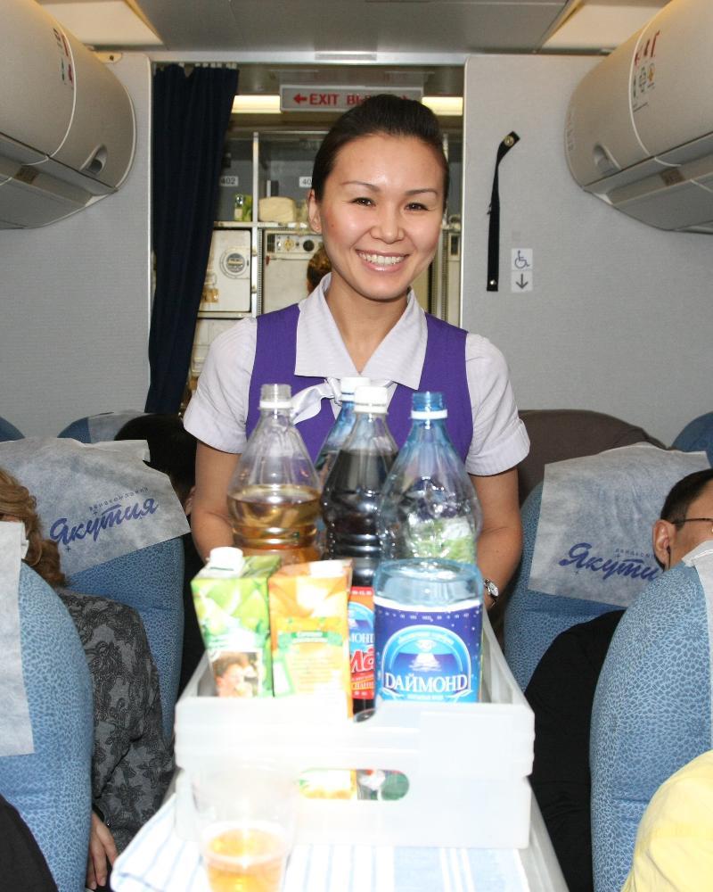 Yakutia Air's Flight Attendant