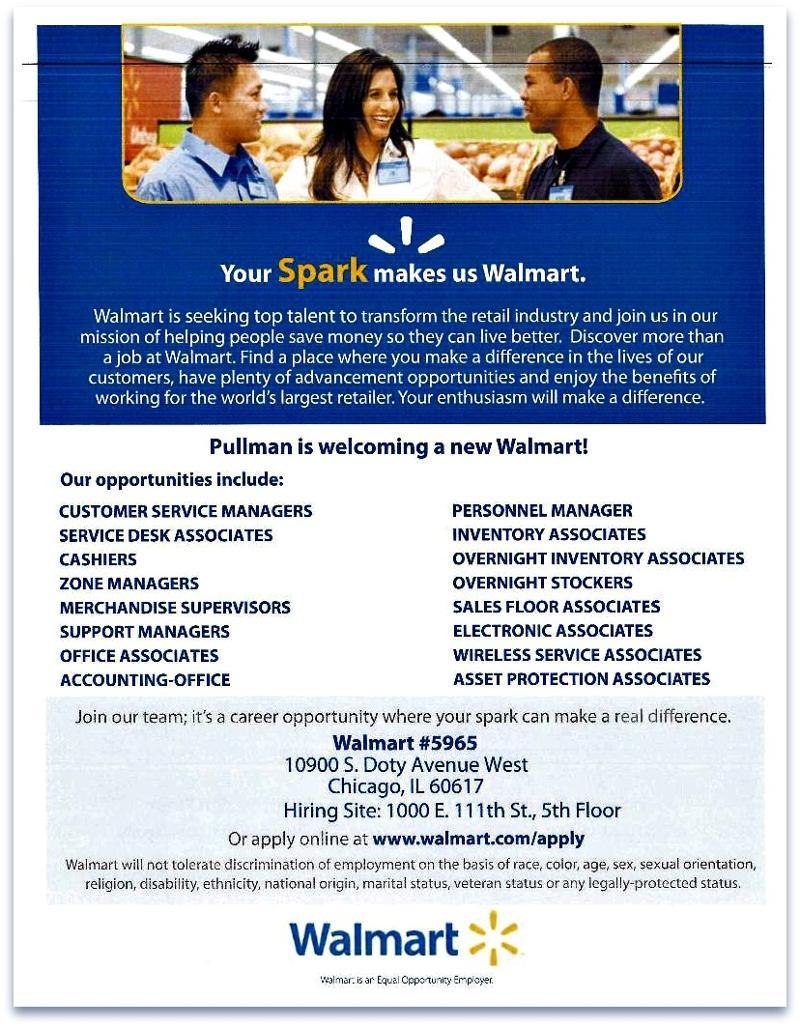 Walmart jobs hiring