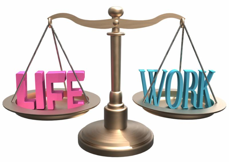 Shiny scales balance Life and Work lifestyle decisions