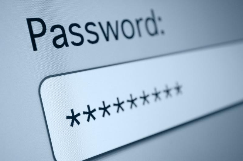 Closeup of Password Box in Internet Browser