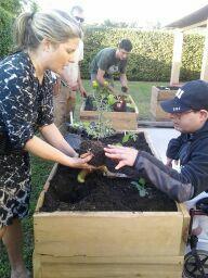 Luis gardening