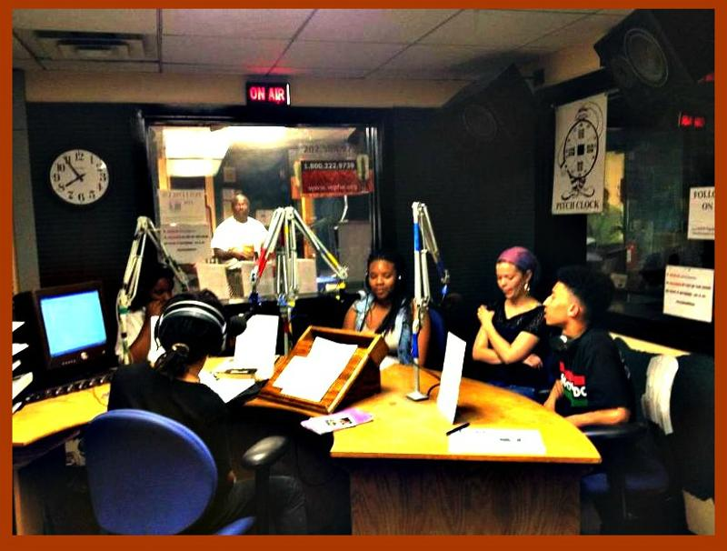 DC Youth Slam Team being interviewed by 2kNation and UPO Power participants