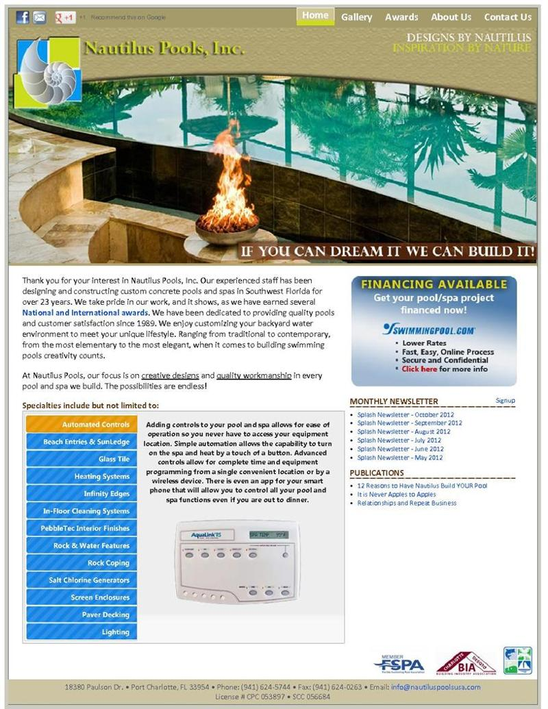 Nautilus Website Home Page