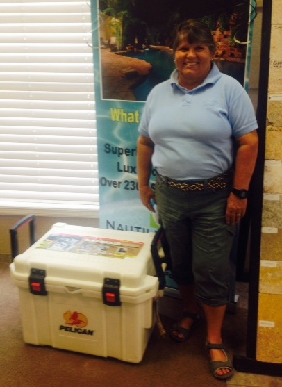 Maggie McKinney of Punta Gorda. Winner of  our first 25th Anniversary drawing