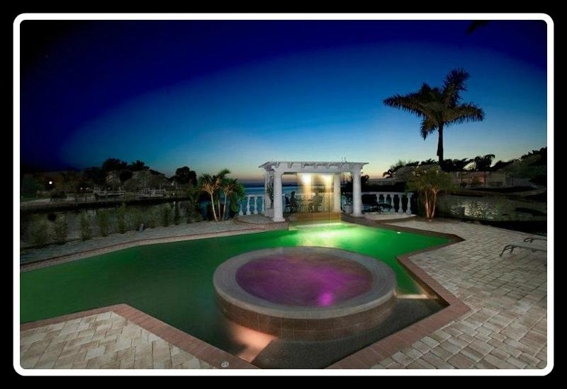 Pool & Spa with LED lighting