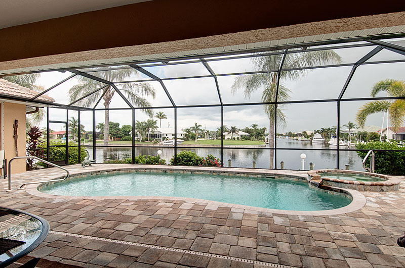 View of remodeled pool  from the lanai