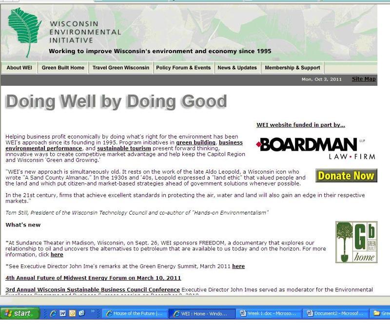 Old WEI website