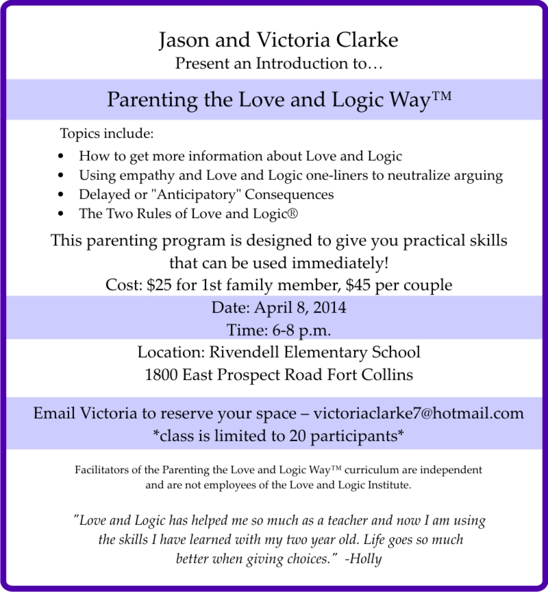 Image of: Classroom Love And Logic Love And Logic Parenting Rivendell News 4062014 Rivendell Newsletters