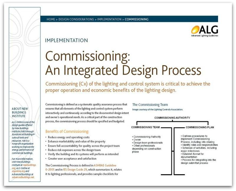 Commissioning: An Integrated Design Process