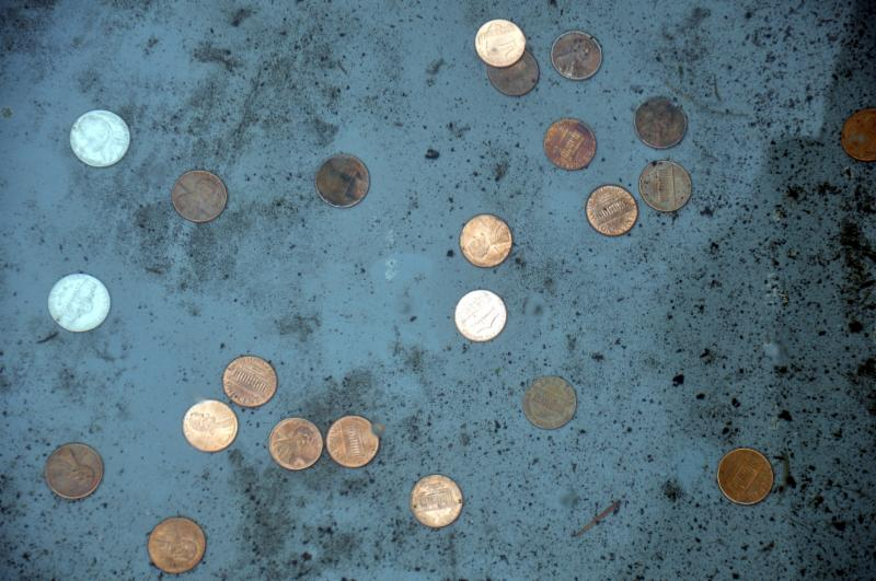 Pennies and loose change