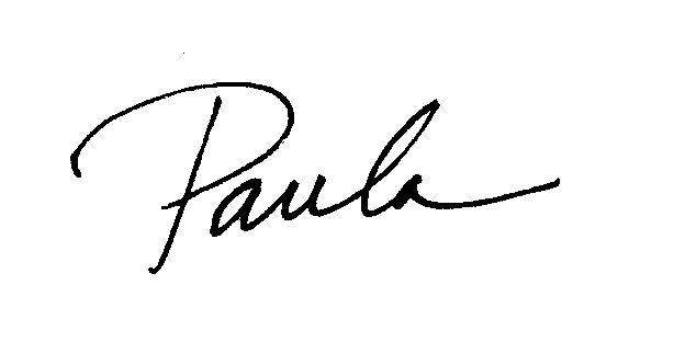 Paula Harris signature
