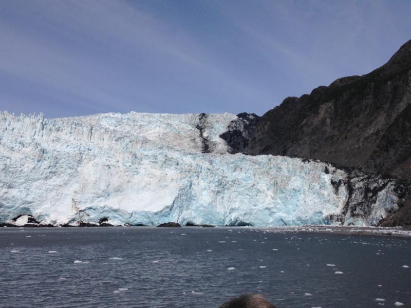 Glacier on Kenei Fjords tour