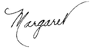 Margaret's Signature