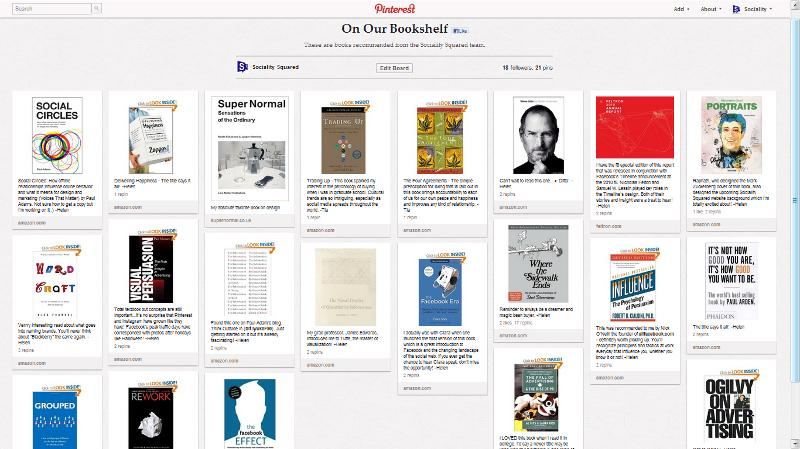 Pinterest Library Pinboard