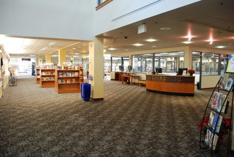 New books area at WPL