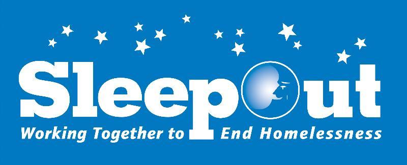 SleepOut Logo Blue Background