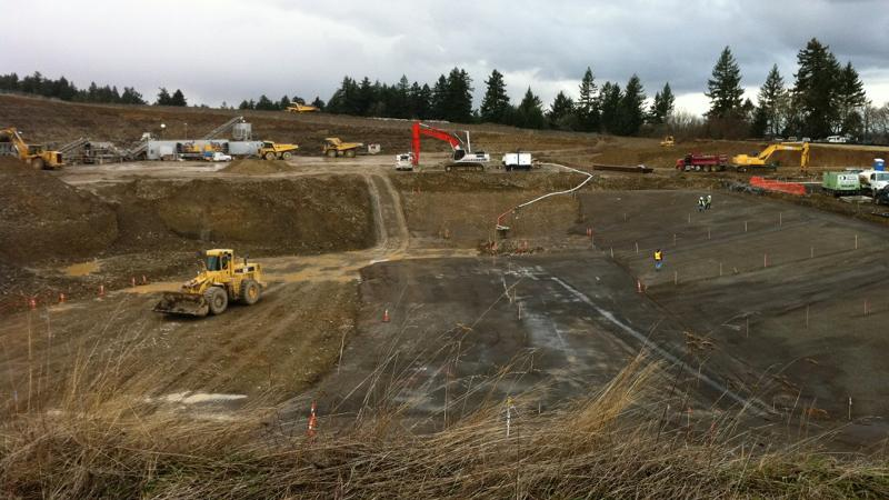 Powell Butte dig site feb 2012