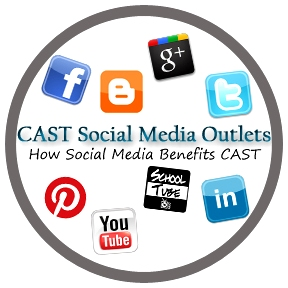 CAST social media circle, prezi