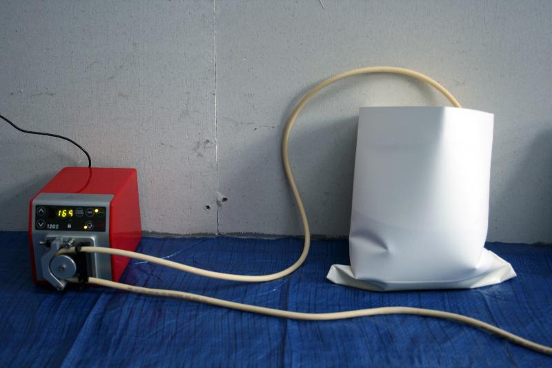 Natasha - Bag trial with pump