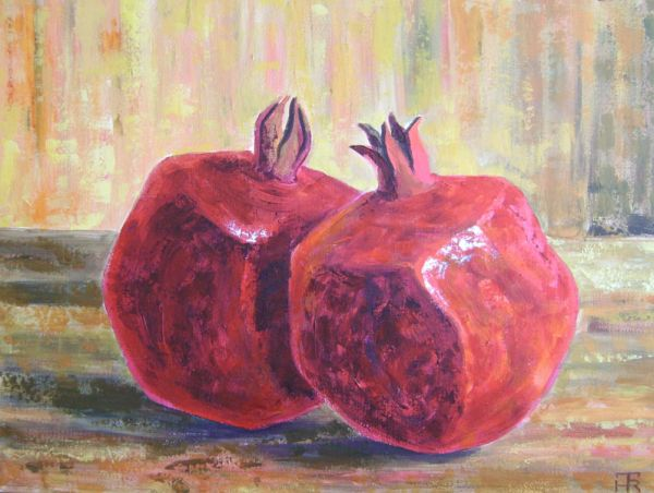 Pair of pomegranates