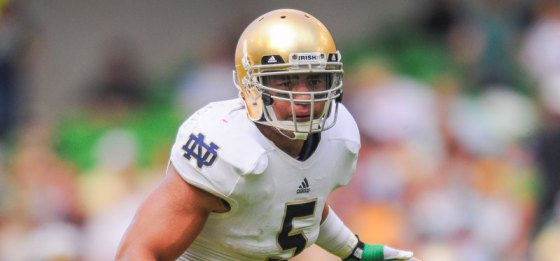 Eagle Scout Manti Te'o of the University of Notre Dame