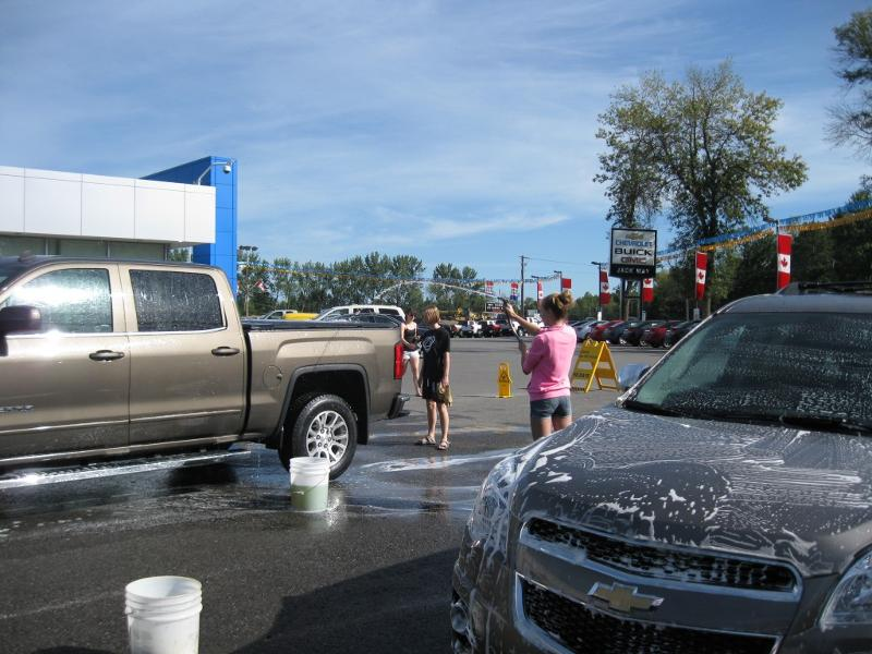 Youth group car wash Aug. 2013