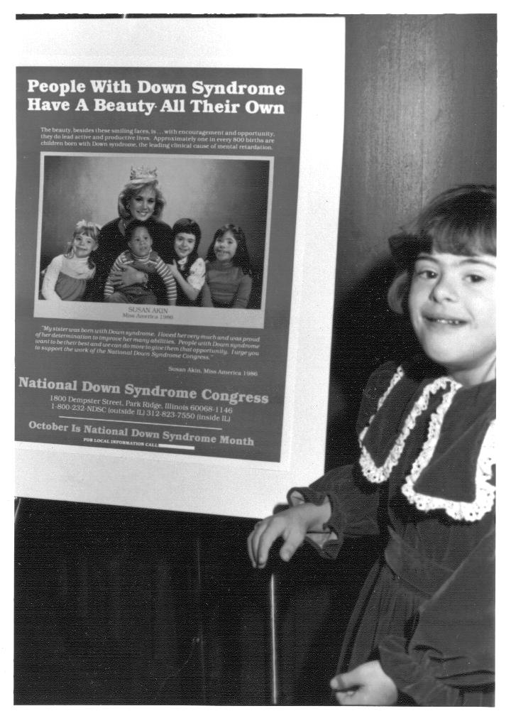 DS Awareness Month Poster 1986