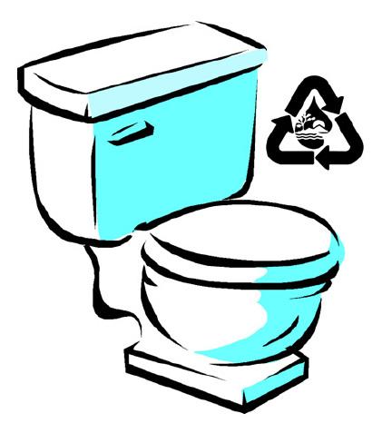 High Efficiency Toilet Clip Art