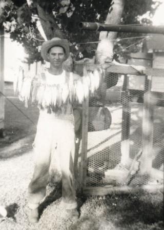BI Webb, white perch 1952