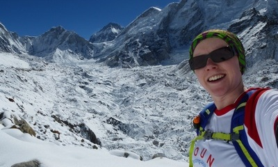 Angela at Everest Basecamp